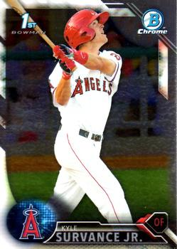 2016 Bowman Chrome Prospects #BCP57 Kyle Survance Jr., Los Angeles Angels