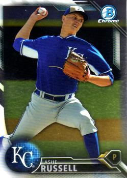 2016 Bowman Chrome Prospects #BCP75 Ashe Russell, Kansas City Royals