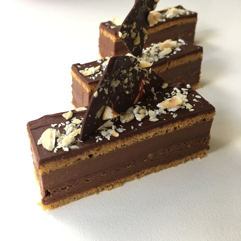 Chocolate, Hazelnut and Orange Gateaux