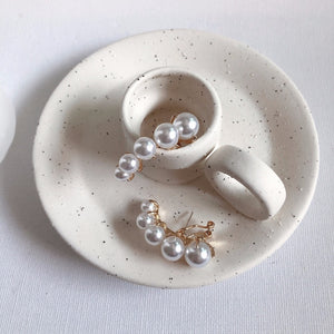 Pearl ear cuff earrings