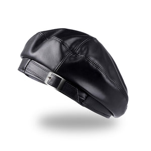 Jiseon Vegan Leather Beret