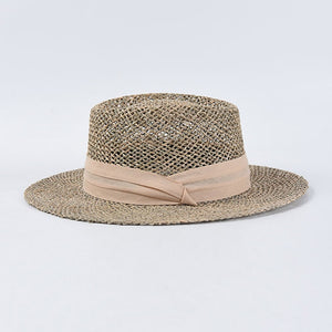 Natural boater hat
