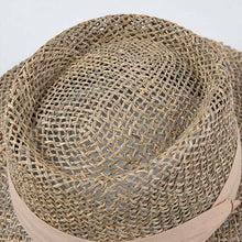 natural straw boater hat