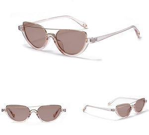 Transparent asymmetric sunglasses