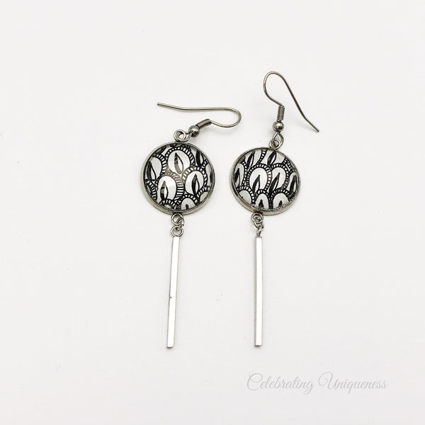 Silver Dangle Earrings, Shining Elegance