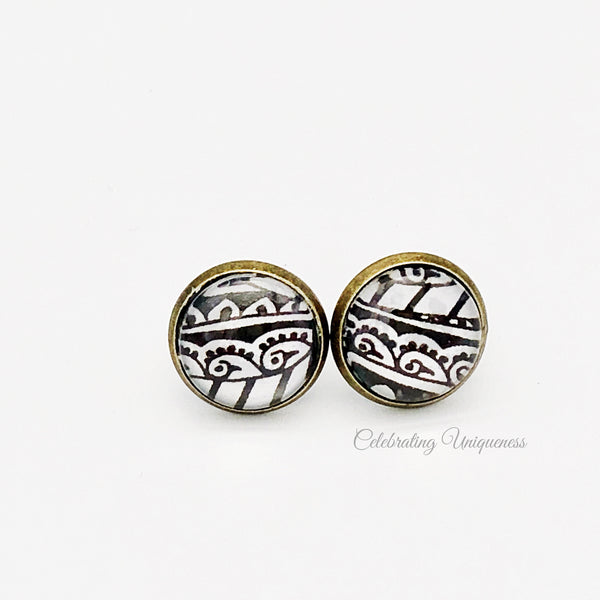 Bronze Ear Studs, Charming Earrings