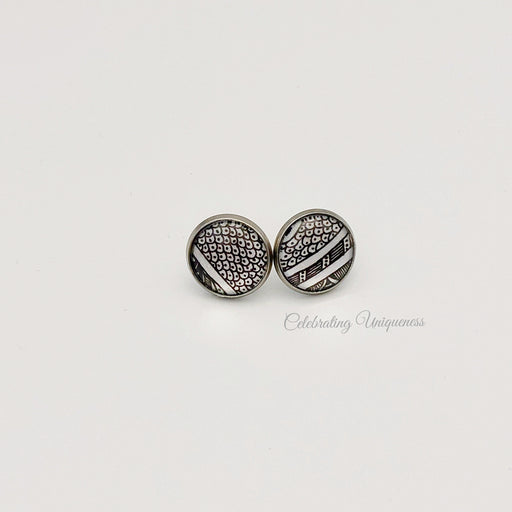 Unique Silver Ear Studs - MeCelebratingU