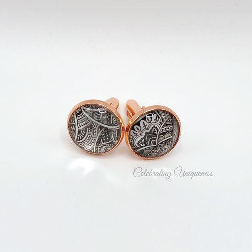 Rose Gold Cufflinks, Party and Office wear - MeCelebratingU