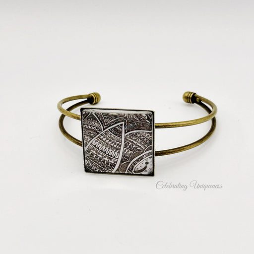 Bronze Bracelet Forest, Unite yourself with nature - MeCelebratingU