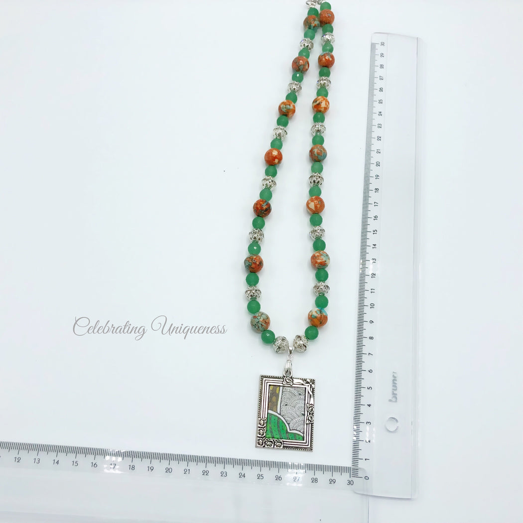 Beaded Necklace, Radiant and Polished Gemstones - MeCelebratingU