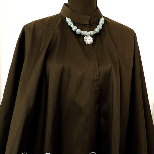 Black Silk Cape, Evening and Party Wear - MeCelebratingU