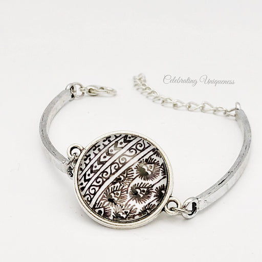Silver Bracelet Peacock Ivy, eye-catching and original - MeCelebratingU