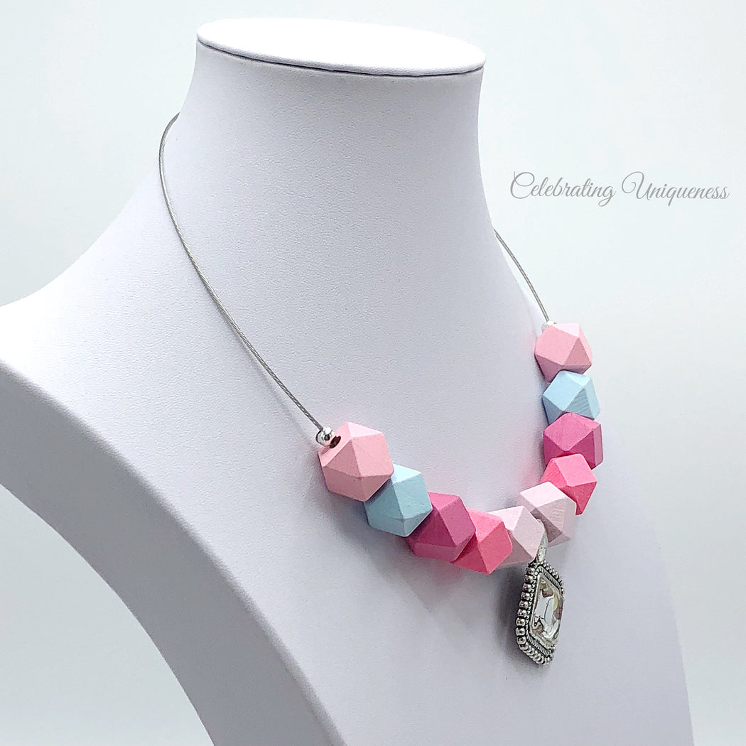 Modern Pastel Beaded Necklace, Cute and funky - MeCelebratingU
