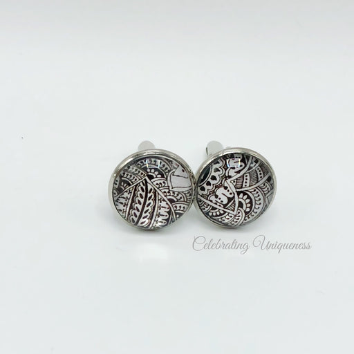 Graceful Silver Cufflinks - MeCelebratingU