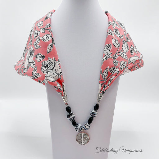 Scarf Necklace, Scarf Jewelry, Statement jewelry - MeCelebratingU