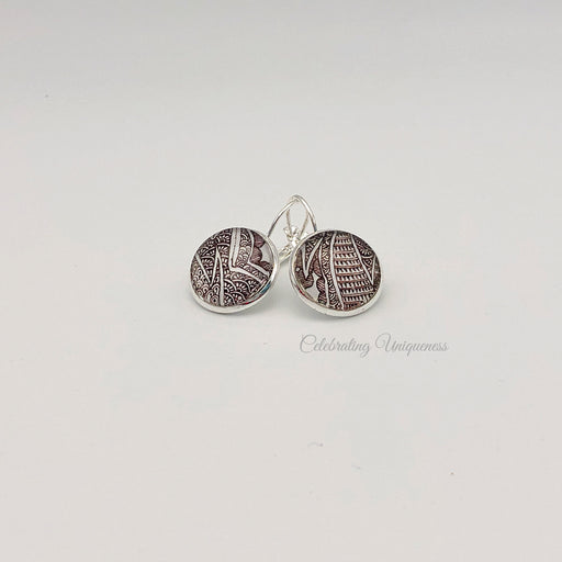 Silver Dangle Earrings, Nature inspired - MeCelebratingU