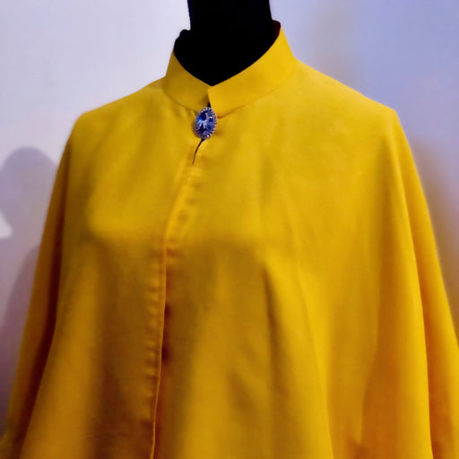 Silk Chiffon Cape in yellow, A bit of sunshine - MeCelebratingU
