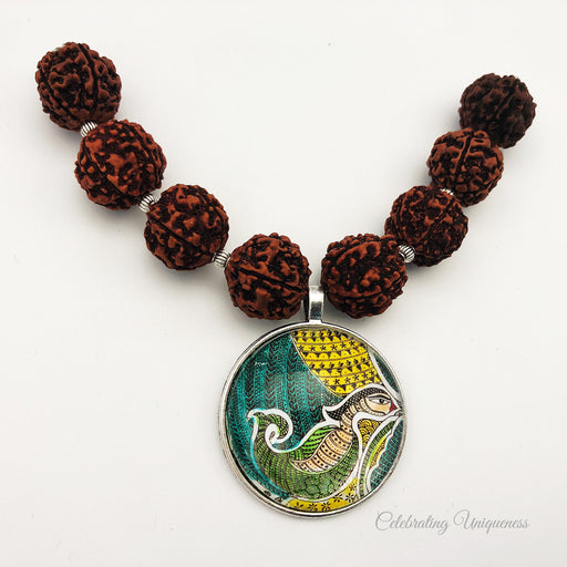 Healing Rudraksha Removable Cape / shirt Necklace - MeCelebratingU