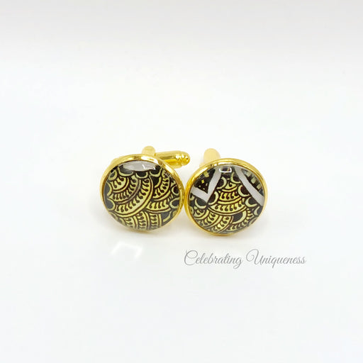Gold Cufflinks, Unique Gift for Him - MeCelebratingU