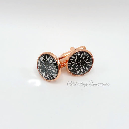 Rose Gold Cufflinks, Unique Gifts - MeCelebratingU