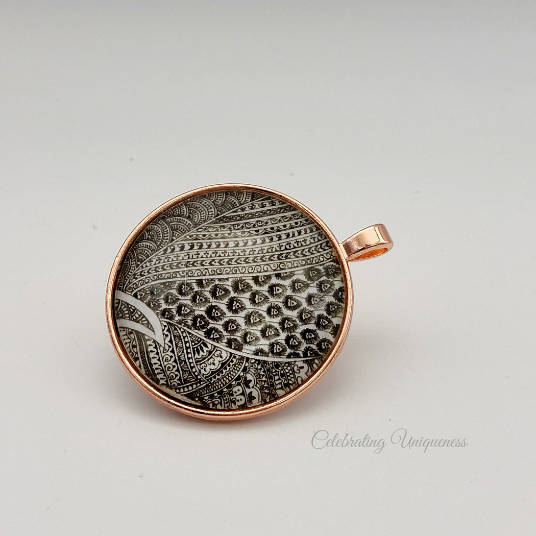 Unique Rose Gold Necklace Pendant - MeCelebratingU