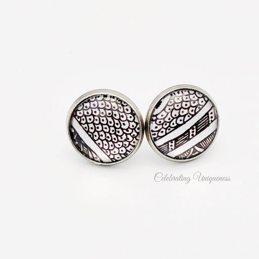 Silver Ear Studs, One of a kind - MeCelebratingU