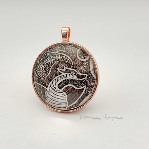 Rose Gold Necklace Pendant, Swan - MeCelebratingU