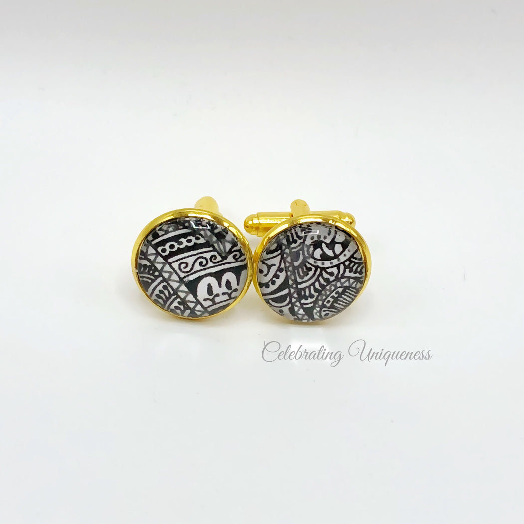 Gold Cufflinks, Party and Office wear - MeCelebratingU