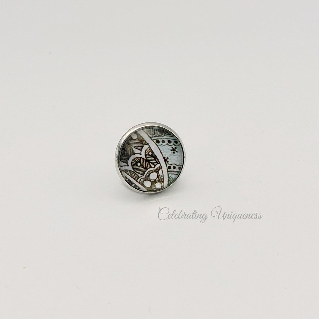 Silver Tie pin, Lapel Pin, a little treasure - MeCelebratingU