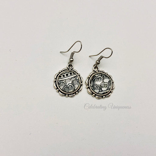 Silver Dangle Earrings, Unique gift - MeCelebratingU