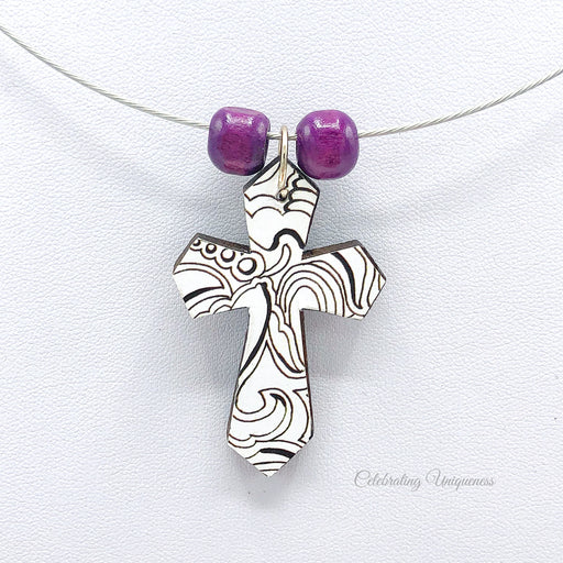 Graceful Necklace with a Cross Pendant - MeCelebratingU
