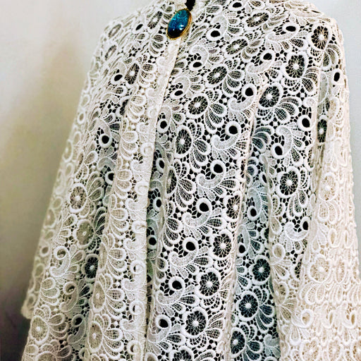 Dapper Lace Cape, One of a kind - MeCelebratingU