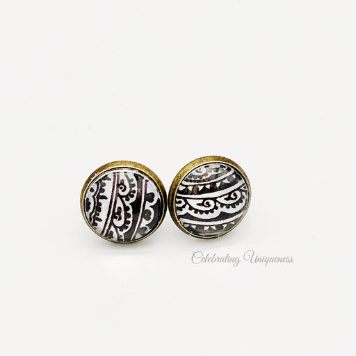 Bronze Ear Studs Earrings, a must-have - MeCelebratingU