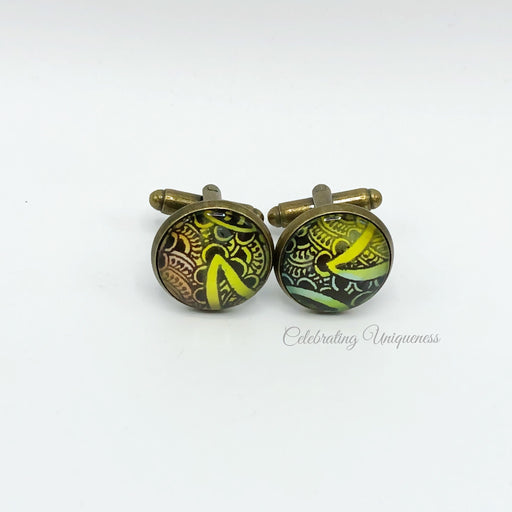 Bronze Cufflinks, Eye-catching unique gift - MeCelebratingU