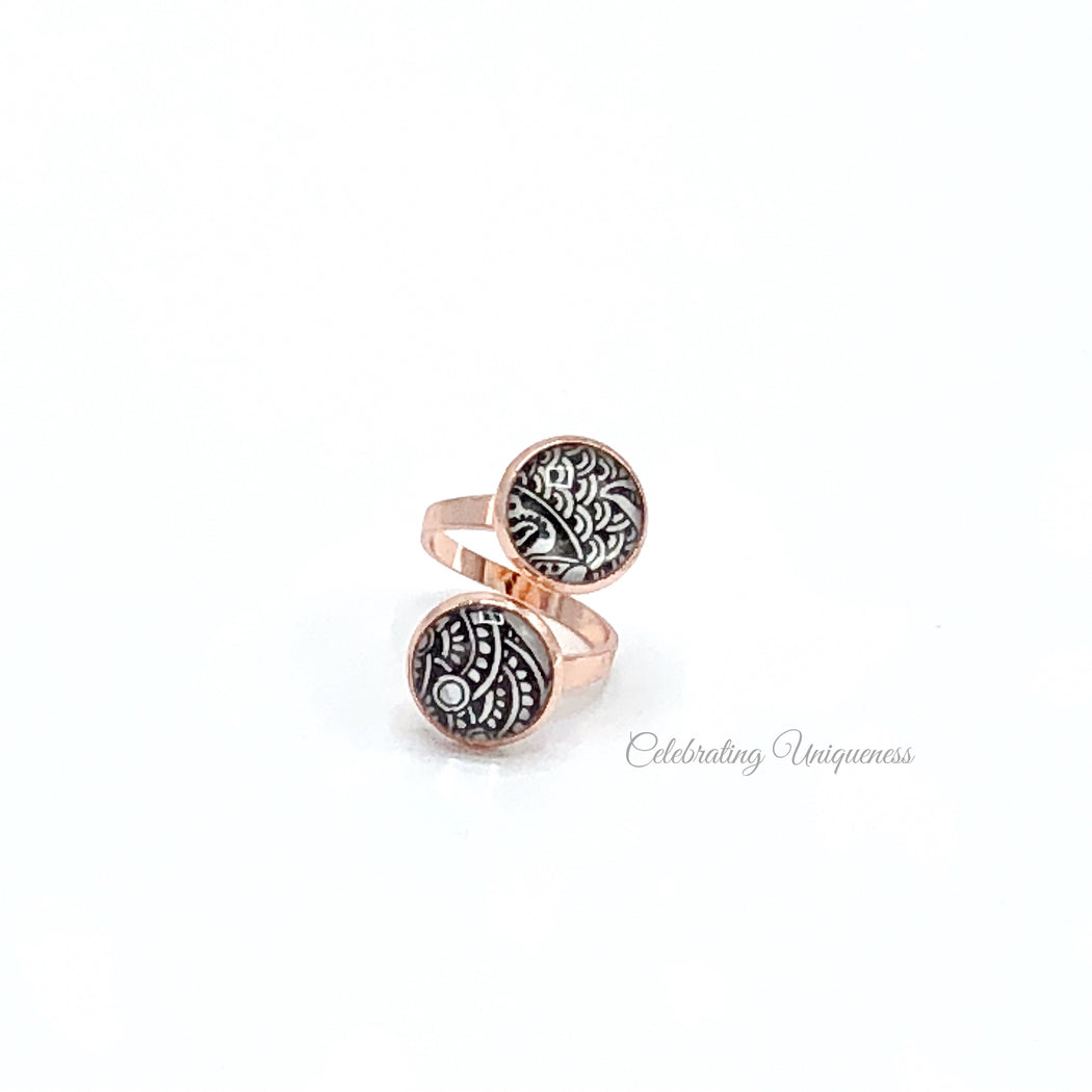 Rose Gold Dinner Ring - MeCelebratingU