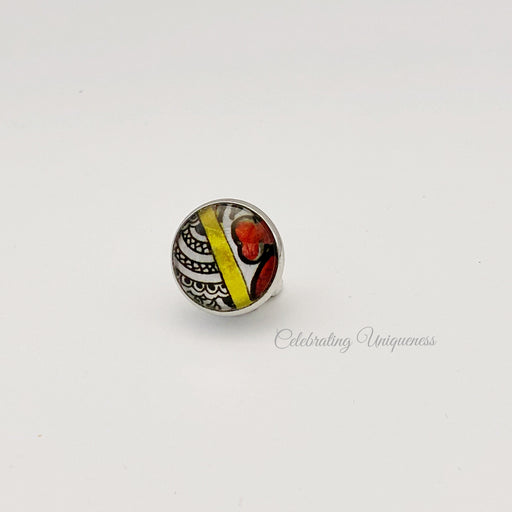 Silver Lapel pin, Tie pin, Multicoloured joy - MeCelebratingU