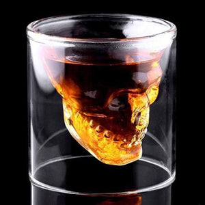 Glass Designer Skull Head Wine glass