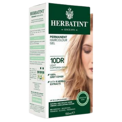 Herbatint Permanent Hair Colour Gel 10DR Light Copperish Gold