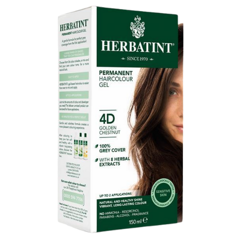 Herbatint Permanent Hair Colour Gel 4D Golden Chestnut