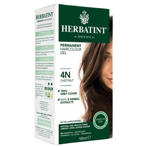 Herbatint Permanent Hair Colour Gel 4N Chestnut