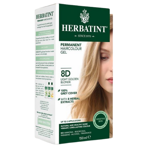 Herbatint Permanent Hair Colour Gel 8D Light Golden Blonde