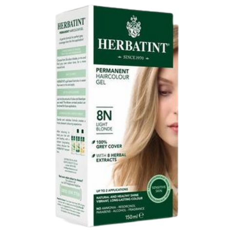 Herbatint Permanent Hair Colour Gel 8N Light Blonde