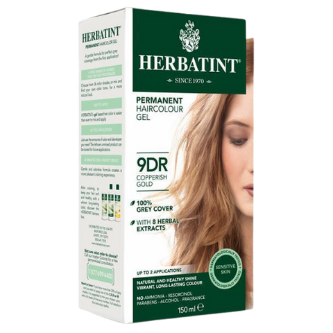 Herbatint Permanent Hair Colour Gel 9DR Copperish Gold