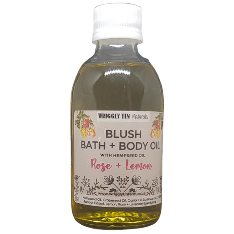 Blush Bath And Body Oil with Hempseed Oil