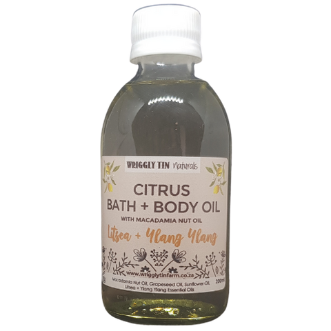 Citrus Bath And Body Oil with Macadamia Nut Oil