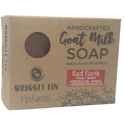 Red Earth Face & Body Bar - Hibiscus, Pomegranate & Shea Goat Milk Soap