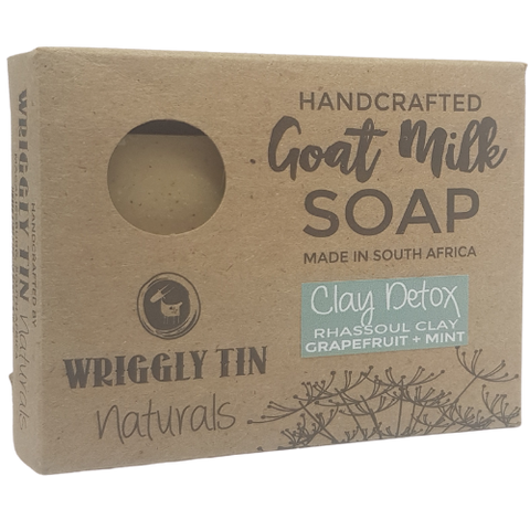 Clay Detox - Rhassoul Clay, Grapefruit, Lavender & Peppermint Goat Milk Soap