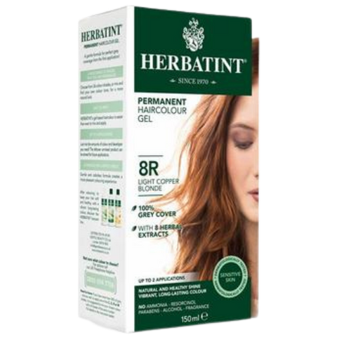 Herbatint Permanent Hair Colour Gel 8R Light Copper Blonde