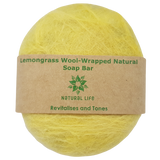 Lemongrass Wool-Wrapped Natural Soap Bar