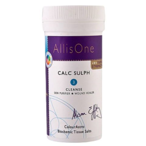 Calc Sulph Tissue Salt No.3 - Cleansing, Purifying & Healing